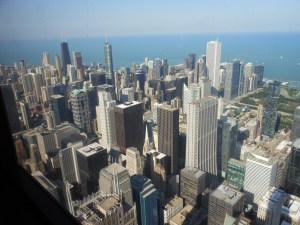 Chicago from Willis Tower (formerly called Sears Tower)