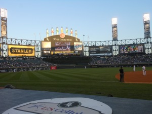 Front Row at Chicago White Sox game