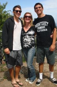 Lisa and her boys