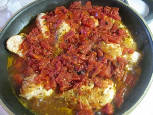 Chicken with roasted tomatoes