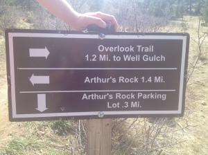 Path to Arthur's Rock