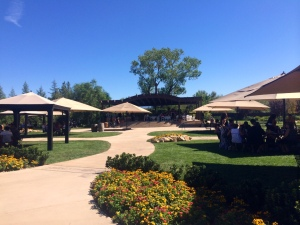 The garden patio at Wilson Creek Winery